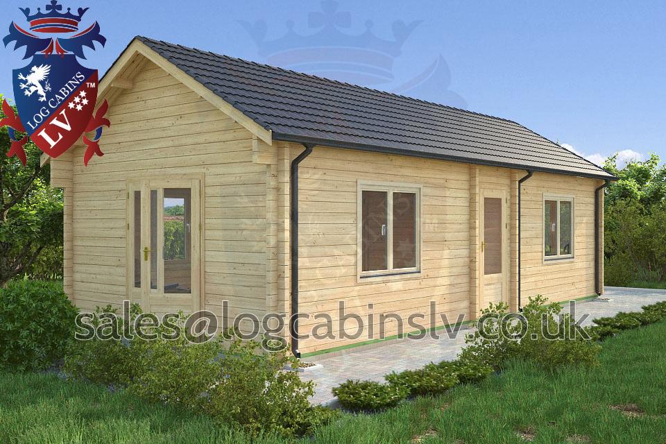 Residential Type Multi Room Log Cabin 4 0 M X 9 0 M