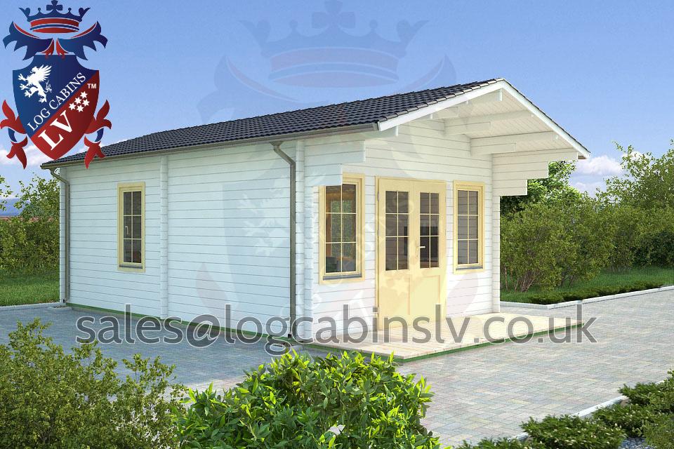 Residential Type Multi Room Log Cabin 4 2 M X 7 8 M