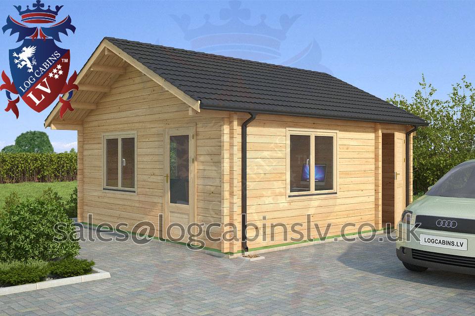 Residential Type Multi Room Log Cabin 5 0 M X 5 0 M