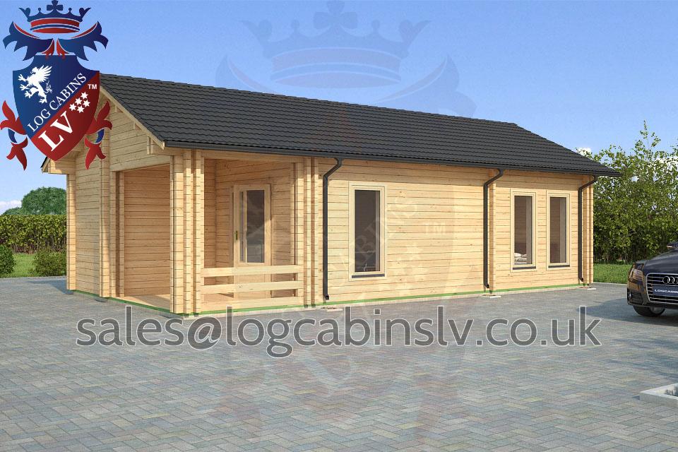 Residential Type Multi Room Log Cabin 5 0 M X 9 0 M