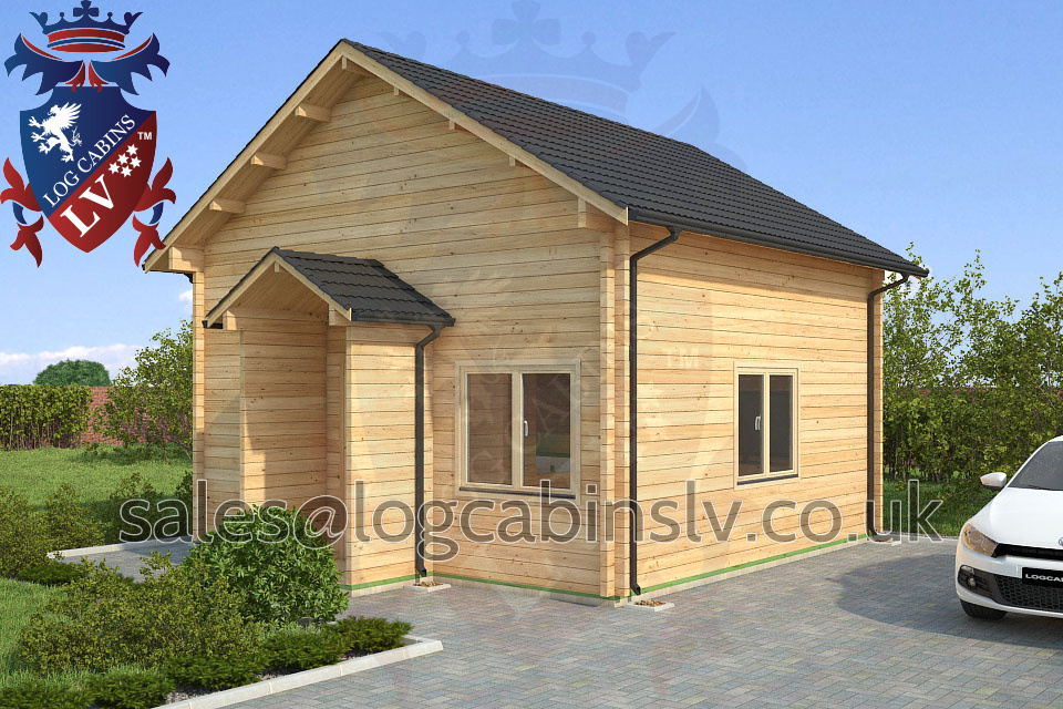Residential Type Multi Room Log Cabin 5 5 M X 5 3 M