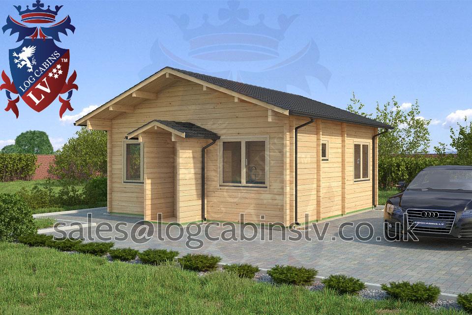 Residential Type Multi Room Log Cabin 5 5 M X 5 5 M
