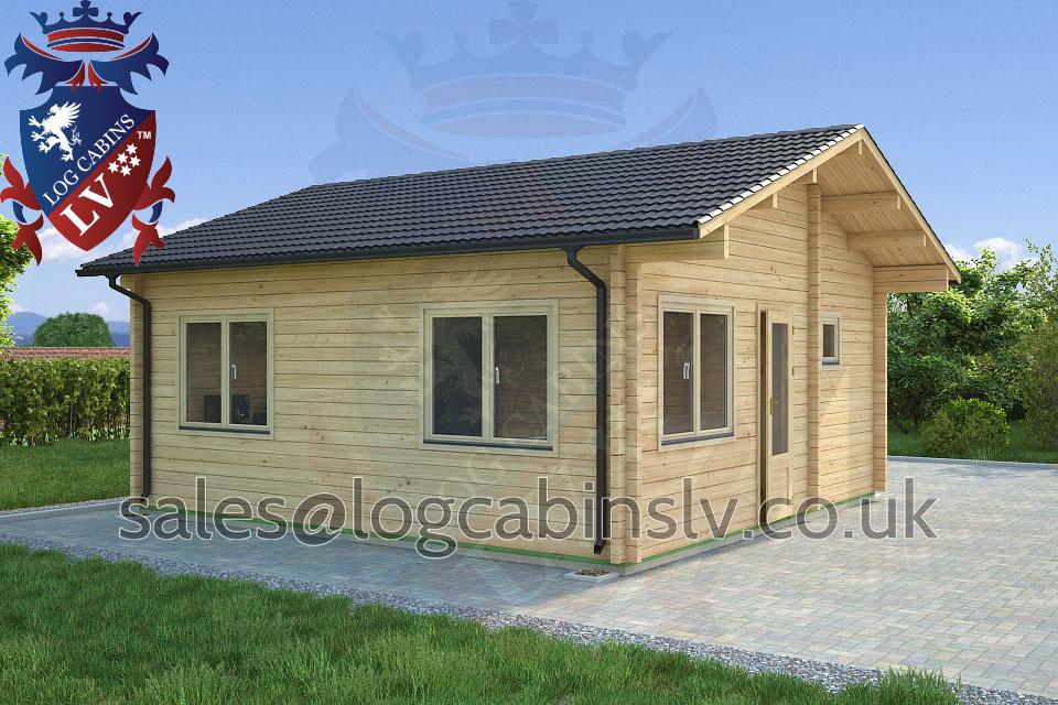 Residential Type Multi Room Log Cabin 5 5 M X 5 7 M