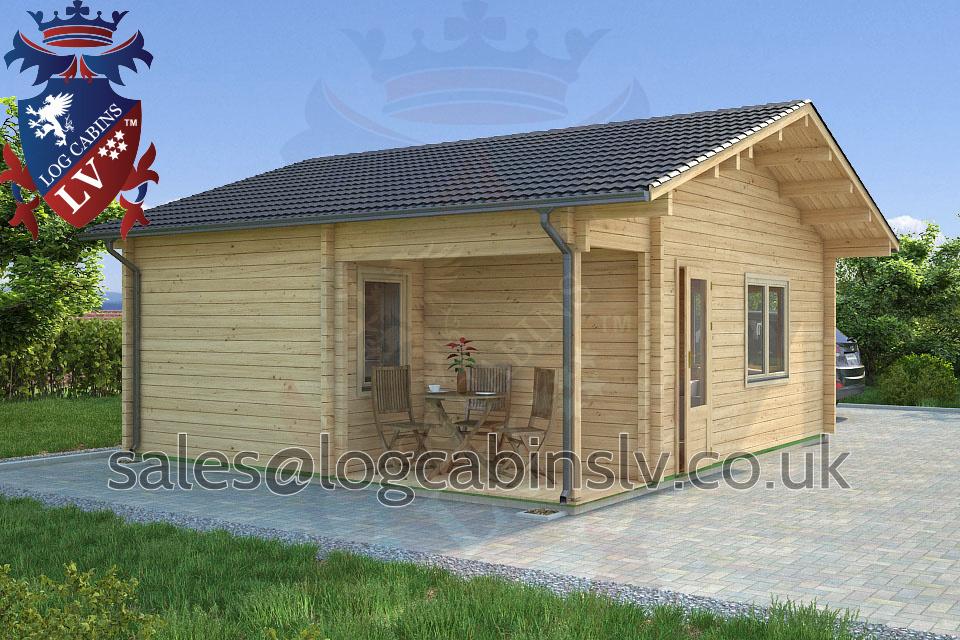 Residential Type Multi Room Log Cabin 5 5 M X 6 3 M