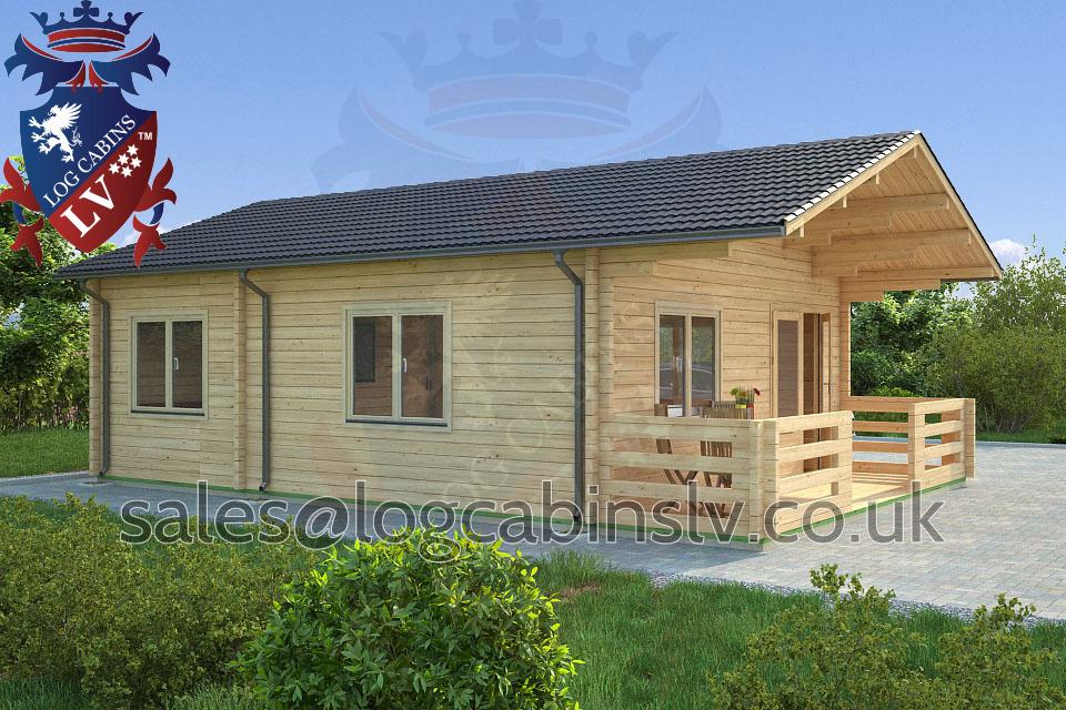 Residential Type Multi Room Log Cabin 5 7 M X 8 5 M