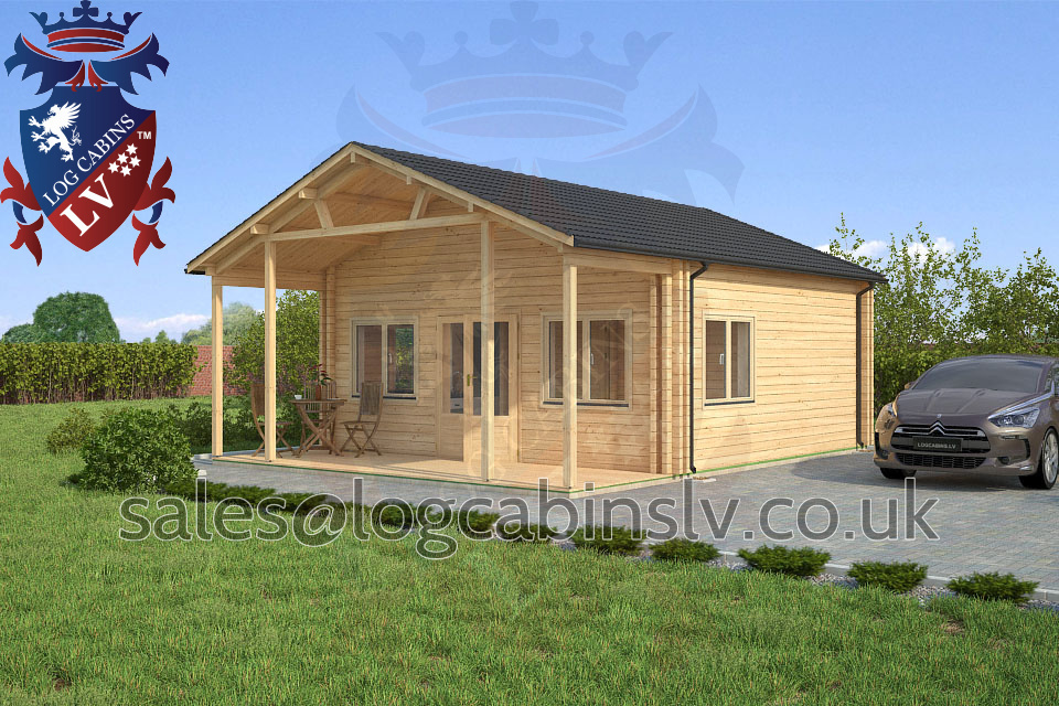 Residential Type Multi Room Log Cabin 6 0 M X 7 7 M