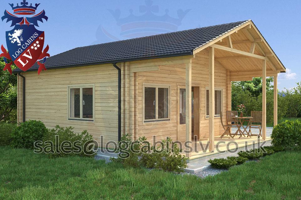 Residential Type Multi Room Log Cabin 6 0 M X 8 0 M