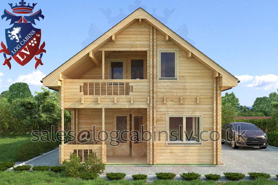 Residential Type Multi Room Log Cabin 6 0 M X 9 0 M