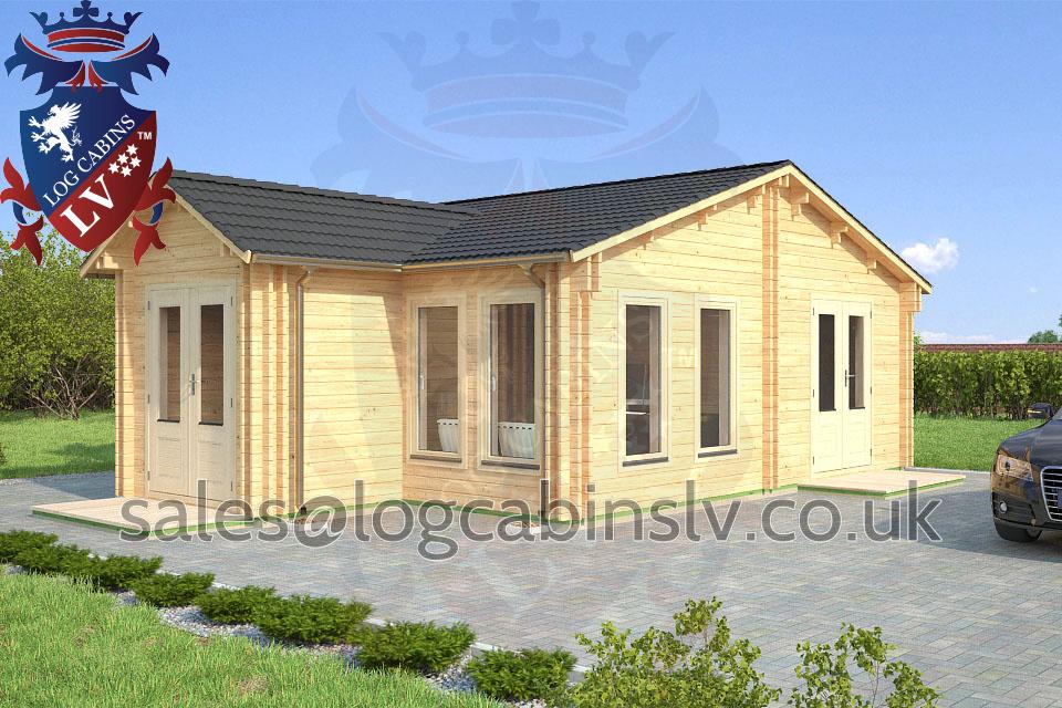 Residential Type Multi Room Log Cabin 6 7 M X 8 2 M