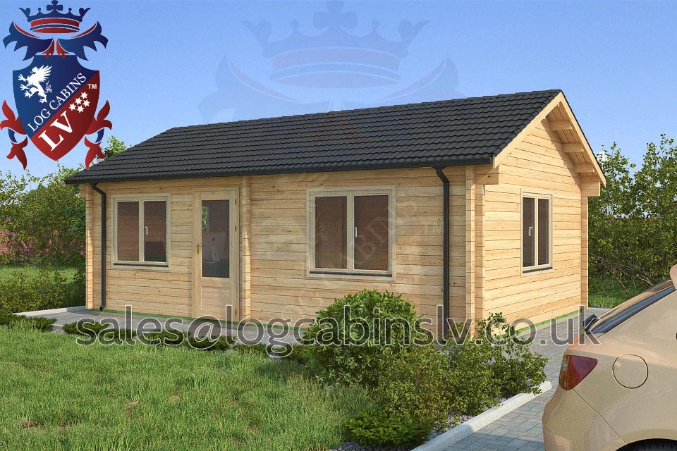 Residential Type Multi Room Log Cabin 7 0 M X 4 5 M