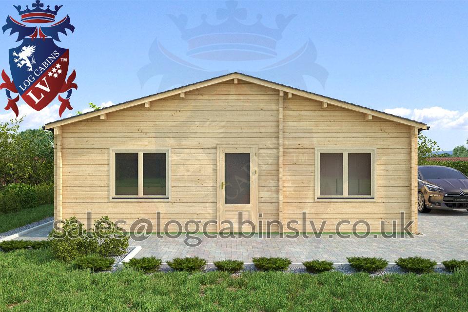 Residential Type Multi Room Log Cabin 8 0 M X 8 0 M