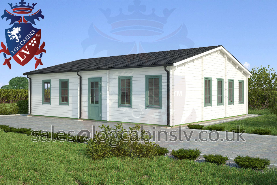 Residential Type Multi Room Log Cabin 8 5 M X 10 0 M