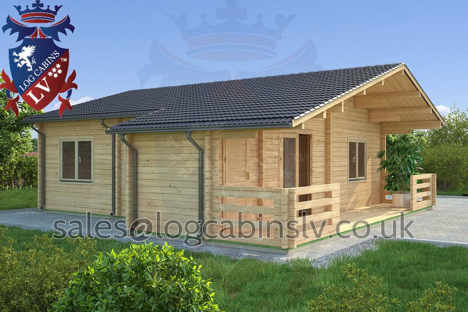 Residential Type Multi Room Log Cabin 8 5 M X 9 0 M