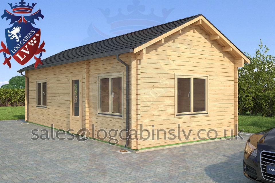 Residential Type Multi Room Log Cabin 8 8 M X 4 0 M