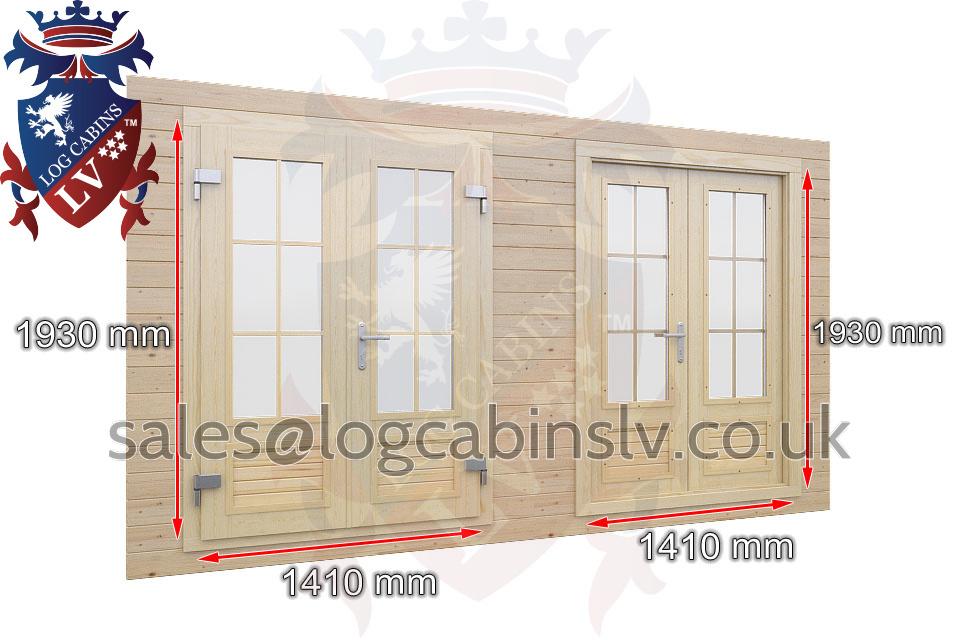 Premium Standard Log Cabin Doors 1 u2013 1930 mm x 1410 mm  sc 1 st  LogCabins LV & Premium Standard Doors - LogCabins LV