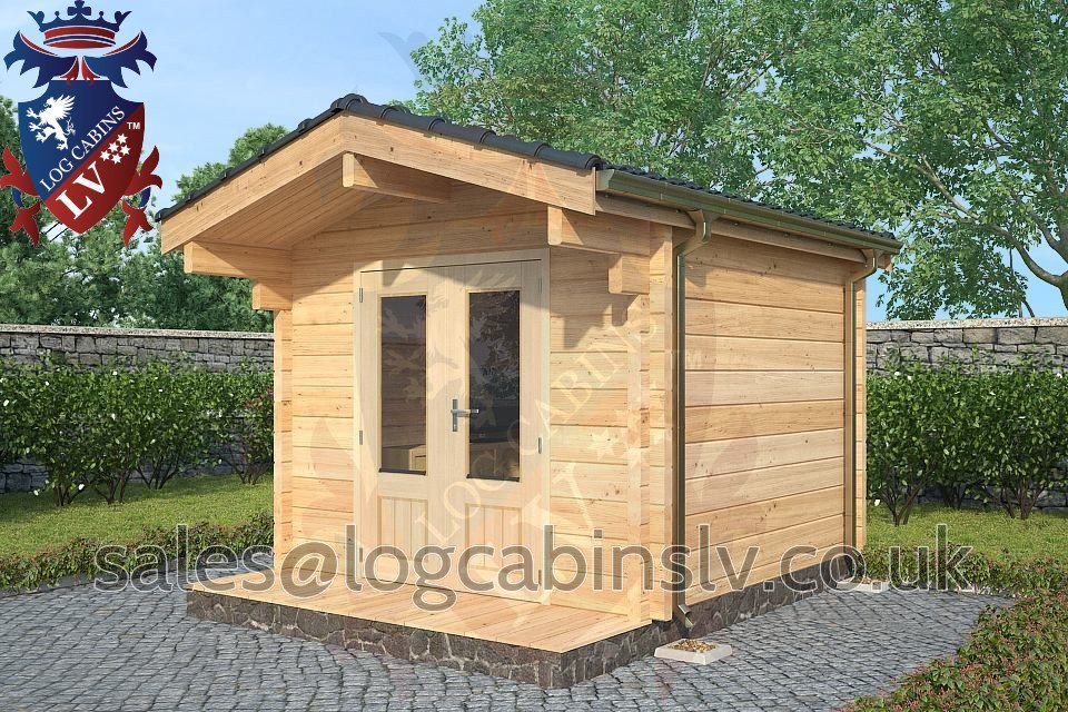 80mm Glulam Log Cabins – 3.0m x 3.0m – GLCLV-9021