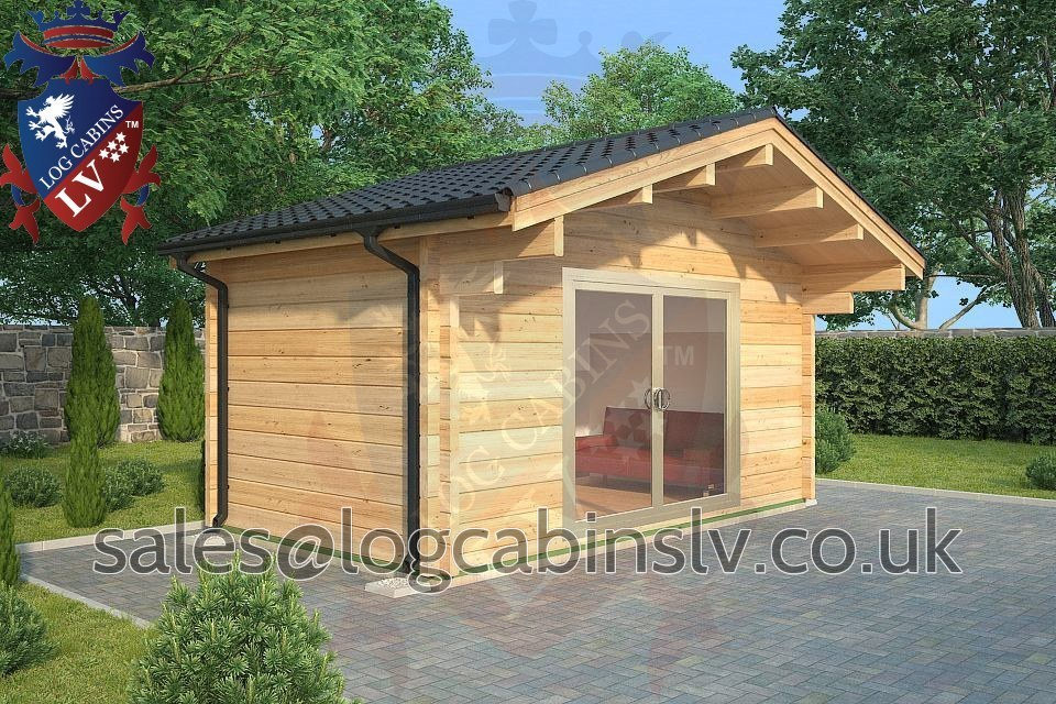 80mm Glulam Log Cabins – 5.0m x 3.0m – GLCLV-9034
