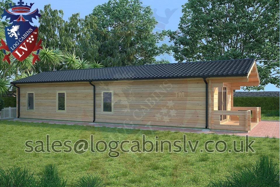 80mm Glulam Log Cabins – 5.0m x 13.0m – GLCLV-9035