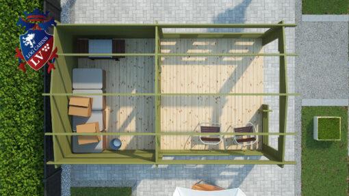 Kate Log Cabins LV_1 - 3.5m x 5.6m