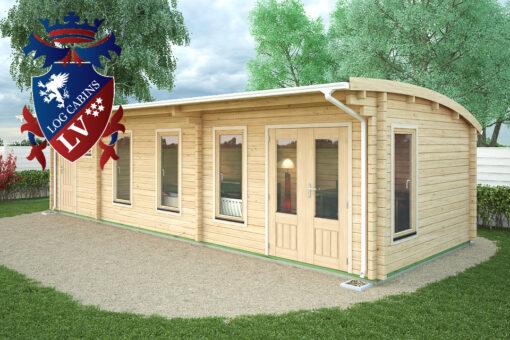 Ditchling Log Cabin Ki Range 9.5m x 3.5m - 1640