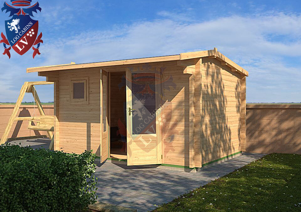 Log Cabin Hangleton DF Range 4.0m x 3.0m – 12
