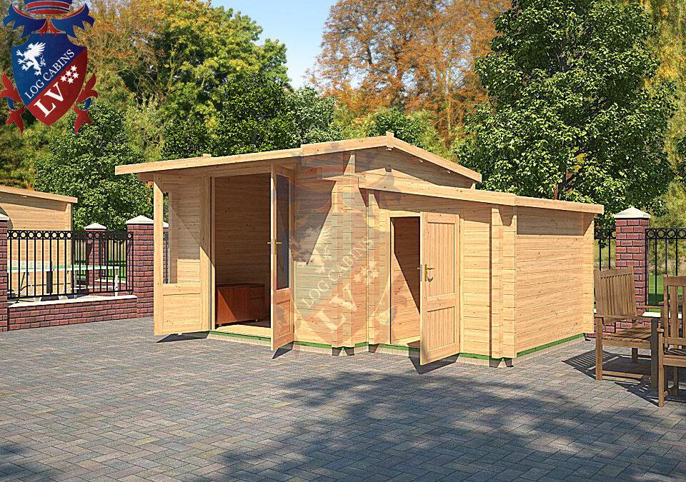 Log Cabin Kingsdown DF Range 4.5m x 3.0m – 16